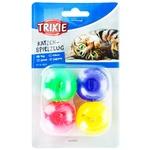 Набор мячиков Trixie пластиковых с колокольчиком 4шт