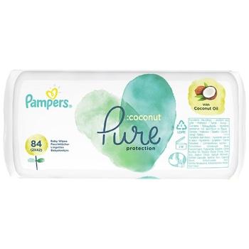 Салфетки Pampers Pure Coconut 84шт - купить, цены на Ашан - фото 2