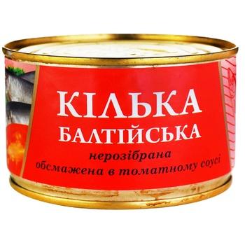 Кільки Fish Line Балтійські обсмажені в томатному соусі 240г