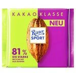 Ritter Sport Dark Chocolate 81% Cocoa 100g