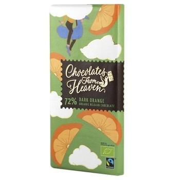 Chocolate From Heaven Orange 72% Black Chocolate 100g