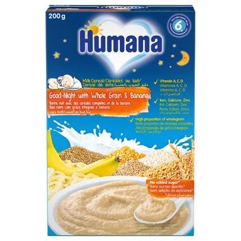 Каша молочна Humana Цільнозернова з бананом 200г - купити, ціни на CітіМаркет - фото 1