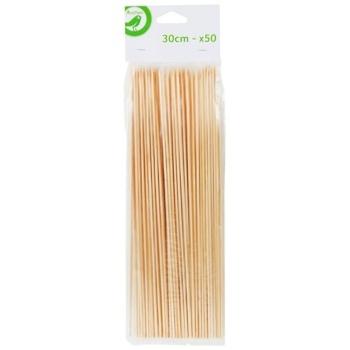 Шпажки Ашан деревянные 50шт*30см
