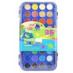 Краски-акварельные с 2 кисточками VGR сухие 36 цветов