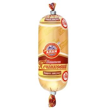 Паштет Алан Печеночный высший сорт 120г - купить, цены на Фуршет - фото 1
