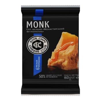 Сыр Клуб Сыра Монастырский 50% 160г - купить, цены на Фуршет - фото 1