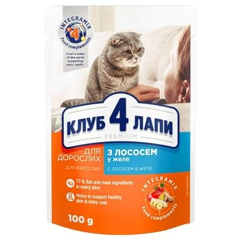 Feed Club 4 paws Premium 100g salmon jelly for cats m - buy, prices for Tavria V - image 1