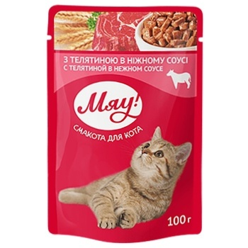 Meow feed 100g Veal in a gentle sauce m / y - buy, prices for Tavria V - image 1