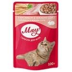 Корм Мяу! для взрослых котов С кроликом в нежном соусе 100г