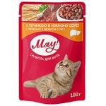 Корм Мяу для дорослих котів Печінка в ніжному соусі 100г