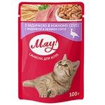 Корм Мяу для взрослых котов С индейкой в нежном соусе 100г