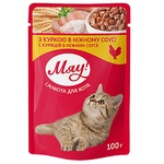 Мяу full-rationed canned pet food for adult cats With chicken in delicate sauce 100g