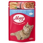 Meow feed 100g Assorted fish in a gentle sauce m/y