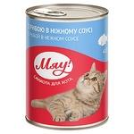 Корм для котов Мяу! Рыбное ассорти в нежном соусе 415г - купить, цены на Восторг - фото 2