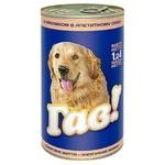 Корм Гав! для взрослых собак С кроликом в аппетитную соусе 1240г