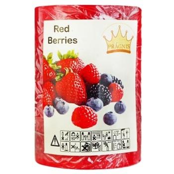 Pragnis Red Berries Candle 5.5x8cm