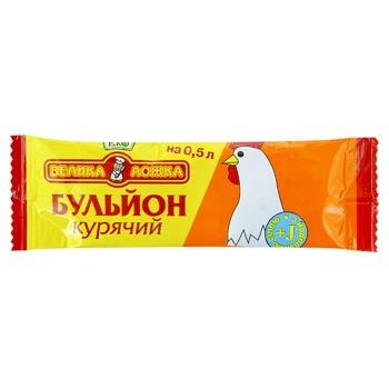 Бульон куриный Большая ложка 10г - купить, цены на Фуршет - фото 1