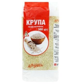 Groats rice Furshet rice short grain white 500g packaged Ukraine - buy, prices for Furshet - image 1