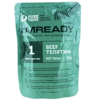 Телятина Fuse Foods I'mready в собственном соке 325г - купить, цены на МегаМаркет - фото 1