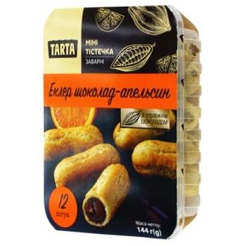 Пирожное Tarta Эклер мини с кремом шоколад-апельсин 144г - купить, цены на Фуршет - фото 1
