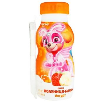 Йогурт питьевой Данколекция Клубника-банан 1,5% 185г - купить, цены на Varus - фото 1