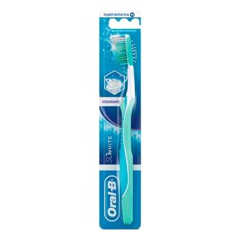 Зубна щітка Oral-B 3D White Відбілювання середня 2шт - купити, ціни на Восторг - фото 2