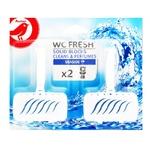 Auchan Sea Freshness Solid Toilet Block 2x40g
