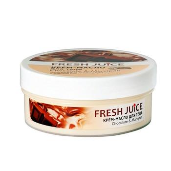 Крем-масло для тела Fresh Juice Chocolate & Мarzipan 225мл - купить, цены на Ашан - фото 2