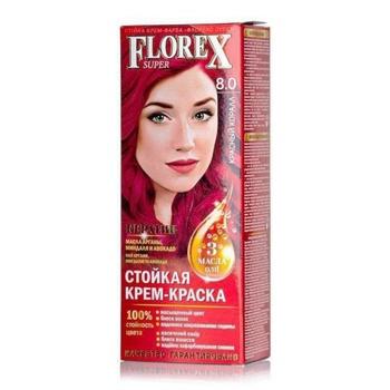 Крем-краска Florex для волос цвет красный коралл - купить, цены на Ашан - фото 1