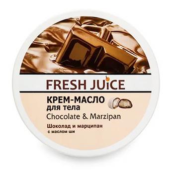 Крем-масло для тела Fresh Juice Chocolate & Мarzipan 225мл - купить, цены на Ашан - фото 1