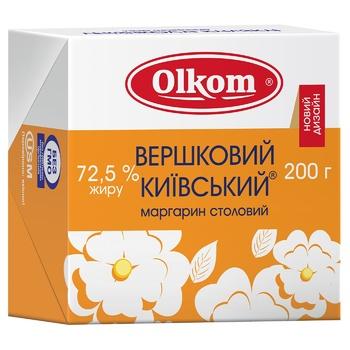 Маргарин Олком Сливочный Киевский 72,5% 200г