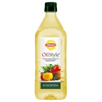 Масло подсолнечное Олком Oil Style рафинированное 0,75л - купить, цены на МегаМаркет - фото 1
