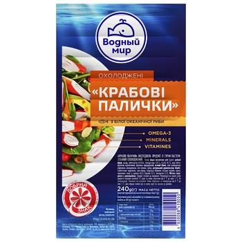 Vodnyi mir chilled crab sticks 200g - buy, prices for MegaMarket - image 1