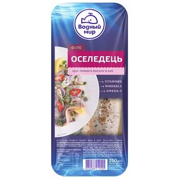Vodniy Myr Spicy-Salted Herring Fillets In Oil 250g - buy, prices for Tavria V - image 1