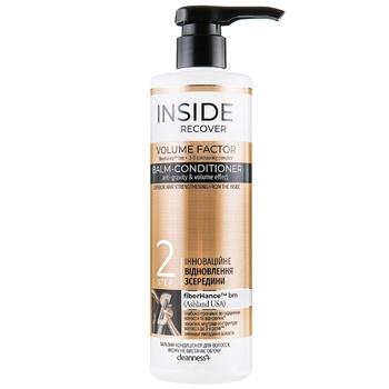 Бальзам-кондиционер Cleanness+ Inside Recover Volume Factor для волос которым не хватает объема 490мл