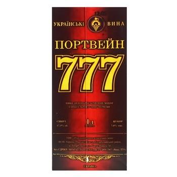 Вино Крымские Вина Портвейн 777 красное крепкое 17.5% 1л