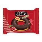 Кекс Brawo Donut с вишневой начинкой в какао-молочной глазури 50г