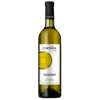 Cartaval Chardonnay white dry wine 9.5-14% 0,75l - buy, prices for Furshet - image 1