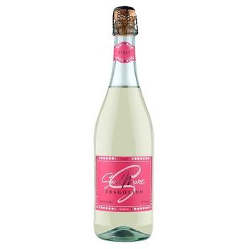 Вино игристое San Mare Fragolino белое сладкое со вкусом клубники 7,5% 0,75л