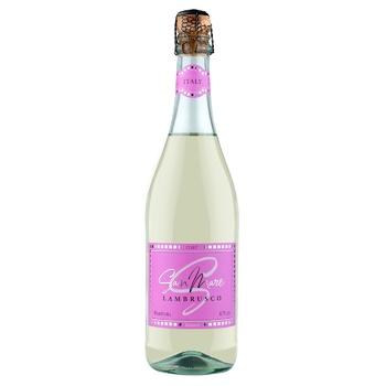 Вино San Mare Lambrusco dell`Emilia Bianco белое полусладкое 8% 0,75л - купить, цены на Фуршет - фото 1