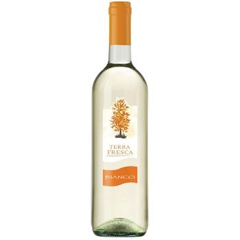 Вино Terra Fresca Bianco белое полусухое 10,5% 0,75л - купить, цены на Фуршет - фото 1
