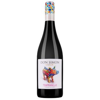 Вино красное Дон Симон Темпранилло виноградное натуральное сухое 12.5% стеклянная бутылка 750мл Испания - купить, цены на Фуршет - фото 1