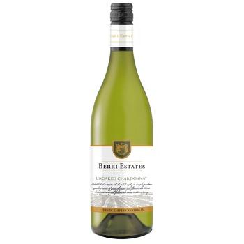 Вино Berri Estates Chardonnay белое сухое 13% 0,75л - купити, ціни на Novus - фото 1