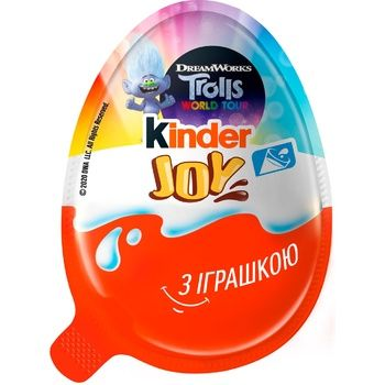 Яйцо шоколадное Kinder Joy с игрушкой для девочек 20г - купить, цены на Метро - фото 1