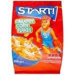 Хлопья кукурузные Start! карамельные 350г