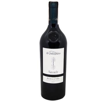 Вино Lo Zoccolaio Barbera d'Alba красное сухое 14,5% 0,75л - купить, цены на УльтраМаркет - фото 1