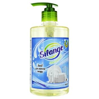 Засіб Silange Лемонграсс для миття посуду 0,5л - купити, ціни на Фуршет - фото 1