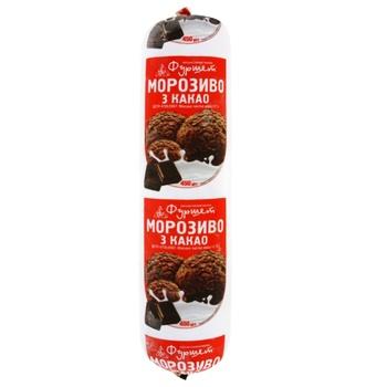 Мороженое с какао 12% Фуршет 450г - купить, цены на Фуршет - фото 1