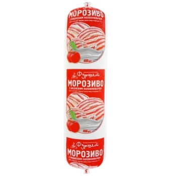 Furshet Cherry Ice Cream 12% 450g - buy, prices for Furshet - image 1