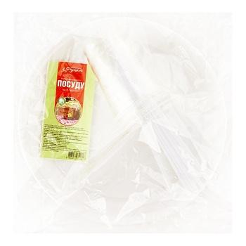 Набір одноразового посуду Фуршет 6 персон - купити, ціни на Фуршет - фото 1